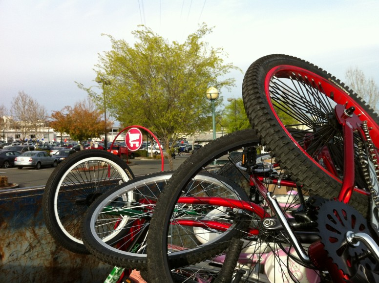 Bikes At Target Store at the Target store in the