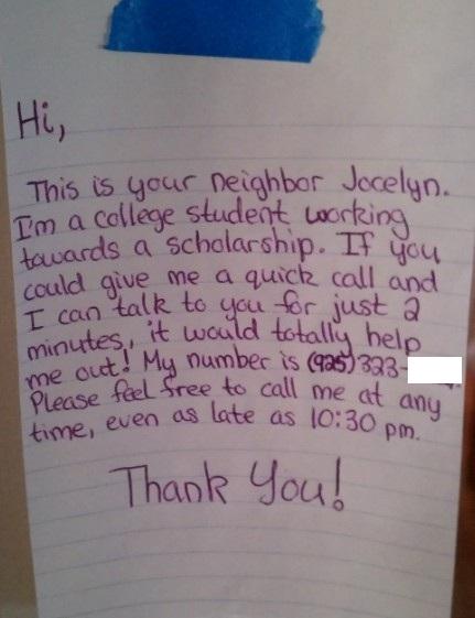 Neighbourhood  Letters