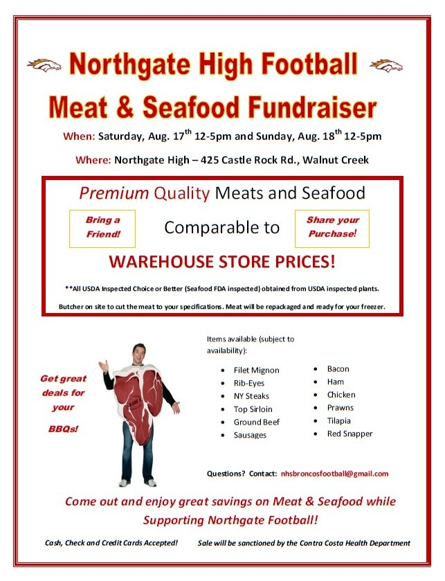 Meat & Seafood Sale to Benefit Northgate High School Football ...