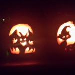 Margaret's 6 & 13 year old carved these pumpkins