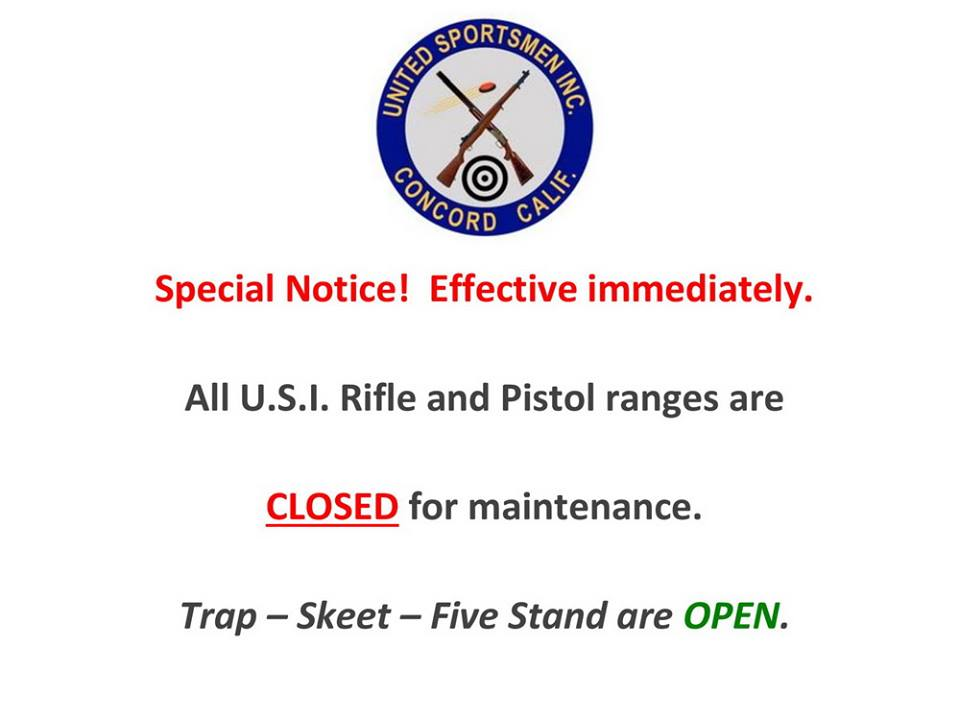 United Sportsmen In Concord Closes All Usi Rifle And Pistol