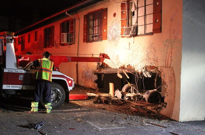 Update photos vehicle overturns crashes into building for 13 salon walnut creek