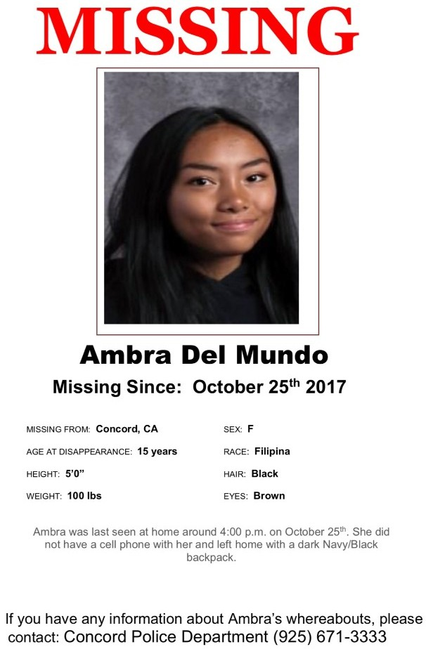 Missing 15 Year Old Girl Found: MISSING: 15-year-old Concord Girl Missing Since Oct.25